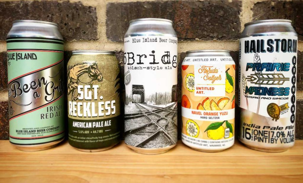 canned beer and seltzers